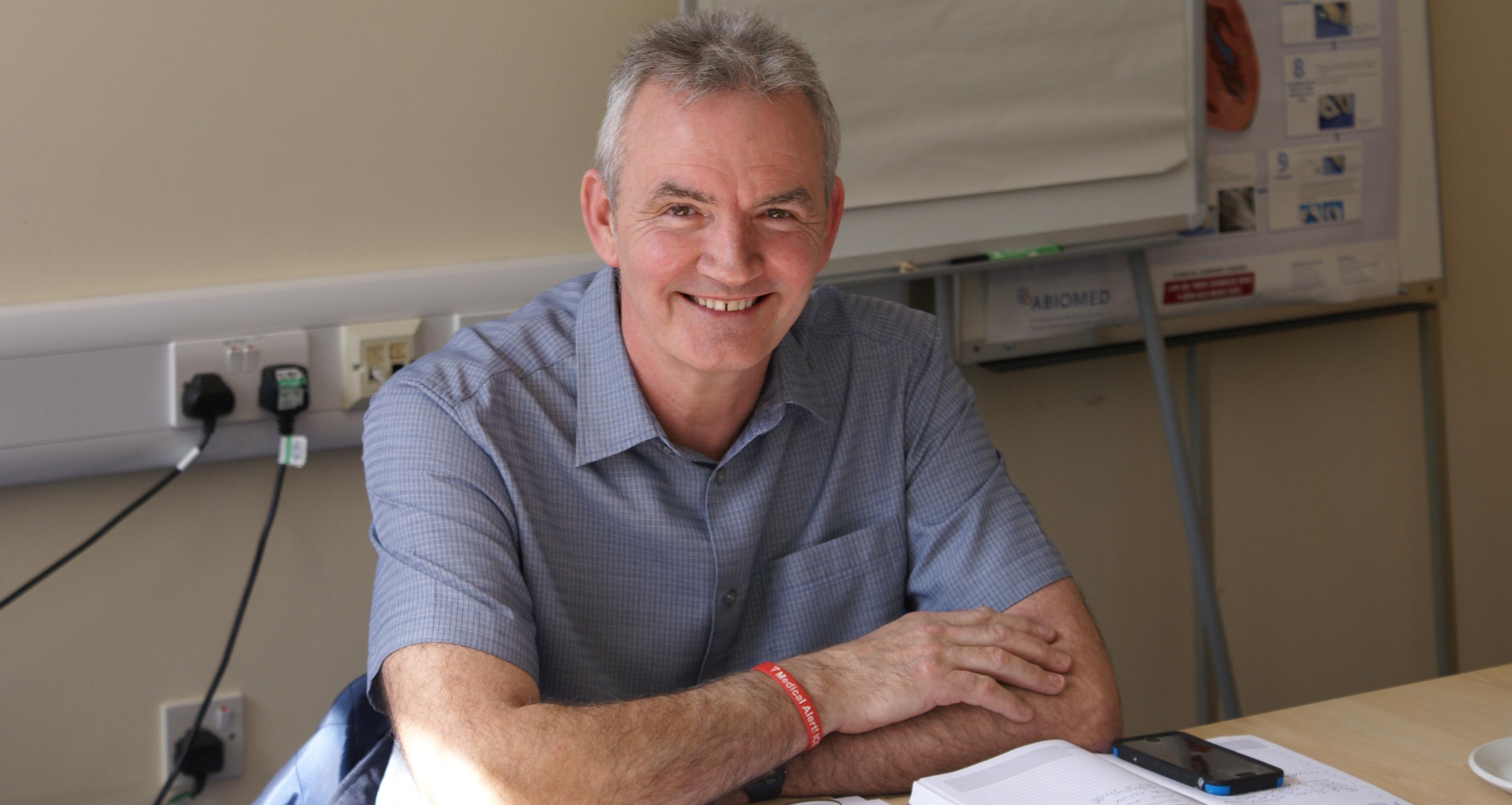 Paul Davis, patient of Wythenshawe Hospital, headshot image