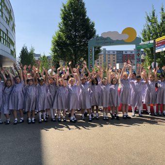 School fundraising for MFT charity