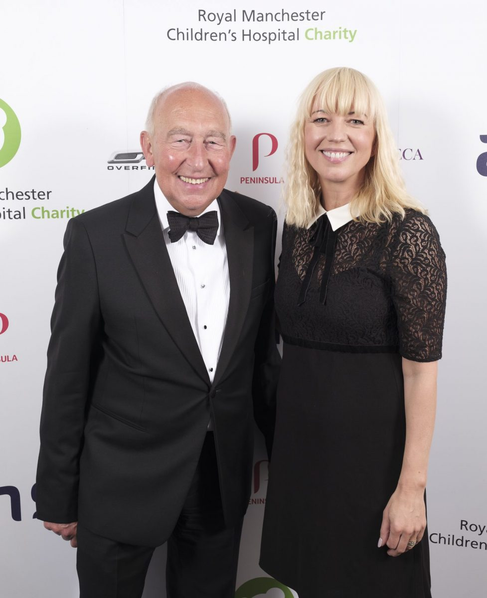 Chairman of the Fundraising Board Mr Maurice Watkins CBE with host Sara Cox