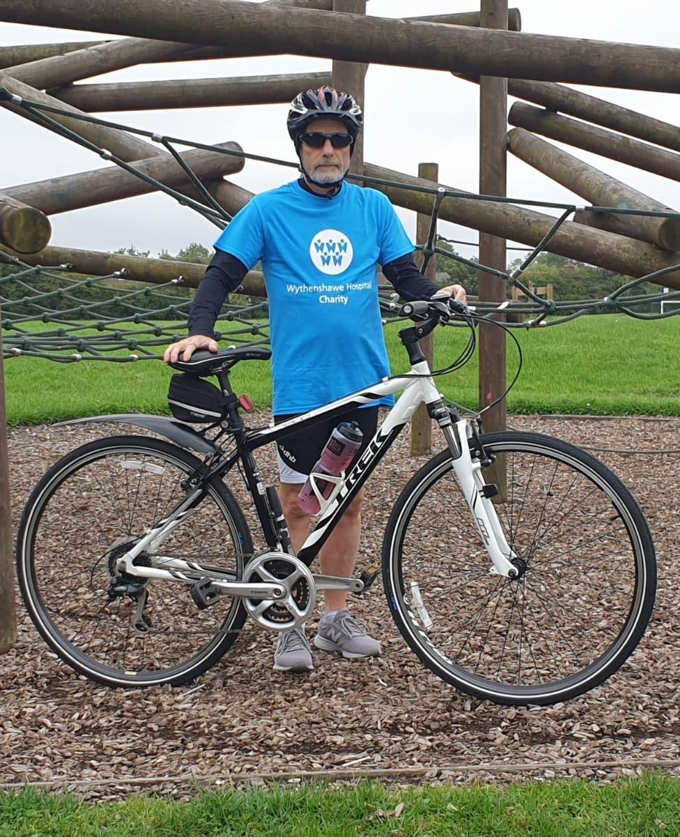 Alan in his Wythenshawe Hospital Charity T-shirt